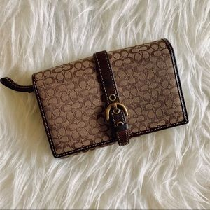 Coach bifold monogram wallet
